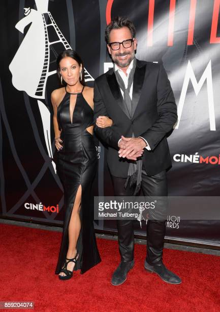 Jennifer Dorogi and Lawrence Zarian attend the 4th Annual CineFashion Film Awards at El Capitan Theatre on October 8 2017 in Los Angeles California