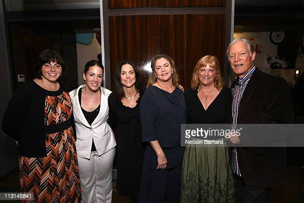 Jennifer Dubin Cora Olsen Anne Renton Kathleen Turner Connie Cummings and Richard Chamberlain attend The Perfect Family's premiere afterparty at the...