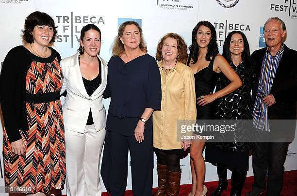 Jennifer Dubin Cora Olsen Kathleen Turner Rebecca Wackler Angelique Cabral Anne Renton and Richard Chamberlain attend the premiere of 'The Perfect...