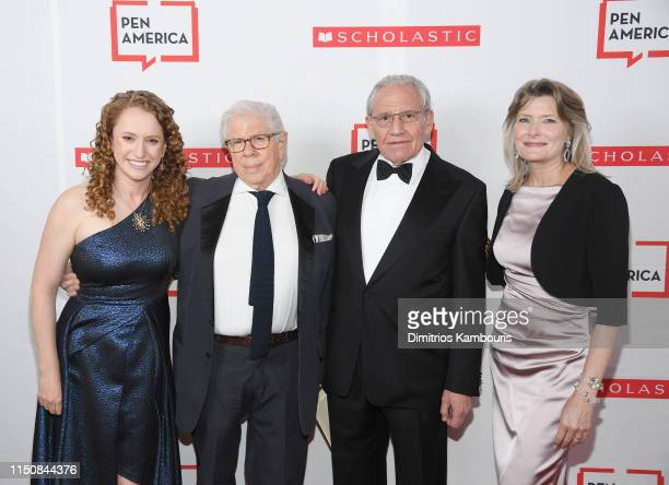 Jennifer Egan, Carl Bernstein, Bob Woodward and Suzanne Nossel attend the 2019 PEN America Literary Gala at American Museum of Natural History on May...