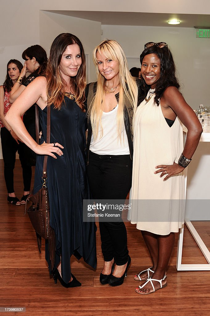 Jennifer Egan, CC Skye and Martine Bury attend JewelMint Celebrates The Launch Of Collective And Previews New Collections From Cher Coulter And CC Skye at on July 18, 2013 in Los Angeles, California.