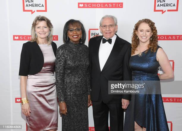 Jennifer Egan Dr Anita Hill Bob Woodward and Suzanne Nossel attend the 2019 PEN America Literary Gala at American Museum of Natural History on May 21...