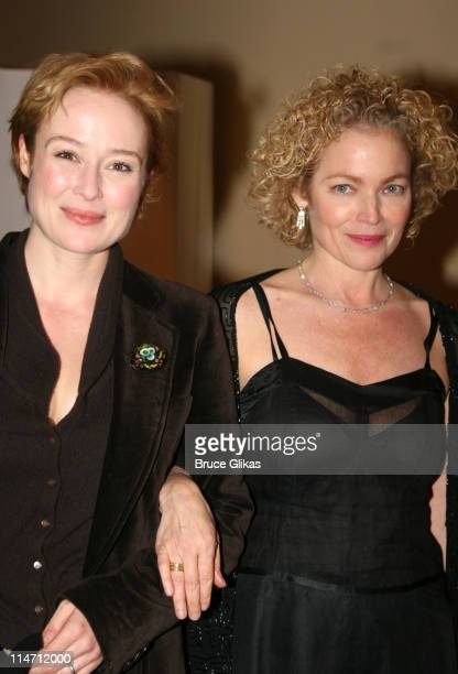 Jennifer Ehle and Amy Irving during 'Shipwreck The Coast of Utopia Part 2' Opening Night Party at Avery Fisher Hall in New York City New York United...