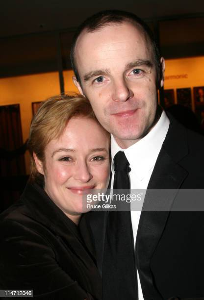 Jennifer Ehle and Brian F O'Byrne during Shipwreck The Coast of Utopia Part 2 Opening Night Party at Avery Fisher Hall in New York City New York...