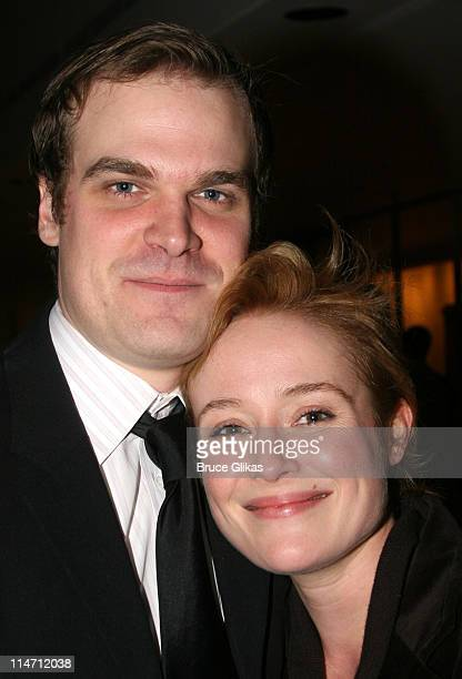 Jennifer Ehle and David Harbour during Shipwreck The Coast of Utopia Part 2 Opening Night Party at Avery Fisher Hall in New York City New York United...