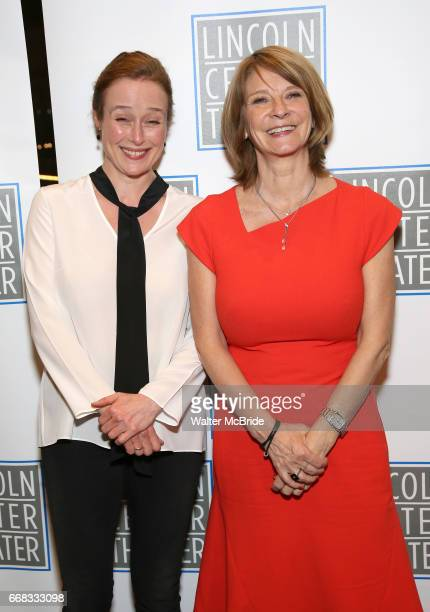 Jennifer Ehle and Mona Juul attend the Opening Night Performance press reception for the Lincoln Center Theater production of 'Oslo' at the Vivian...
