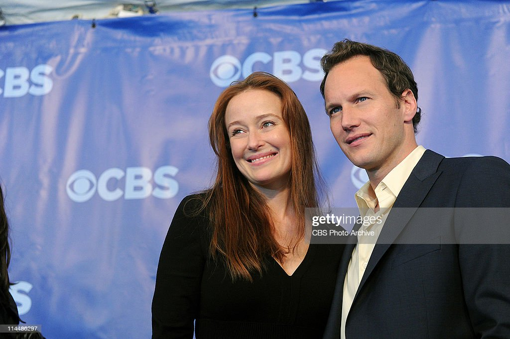 Jennifer Ehle (left) and Patrick Wilson (right) on the red carpet at CBS's Upfront party at New York's Lincoln Center following the 2011 CBS Upfront presentation at Carnegie Hall on Wednesday, May 18, 2011.