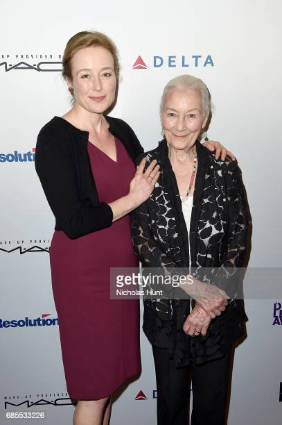 Jennifer Ehle and Rosemary Harris attend the 83rd Annual Drama League Awards Ceremony and Luncheonat Marriott Marquis Times Square on May 19, 2017 in...
