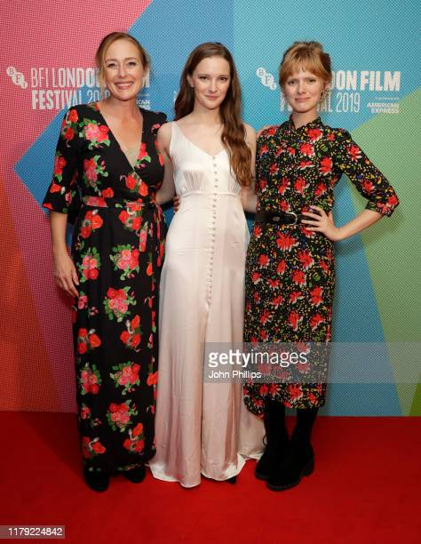 Jennifer Ehle Morfydd Clark and director Rose Glass attend the Saint Maud European Premiere during the 63rd BFI London Film Festival at Vue West End...