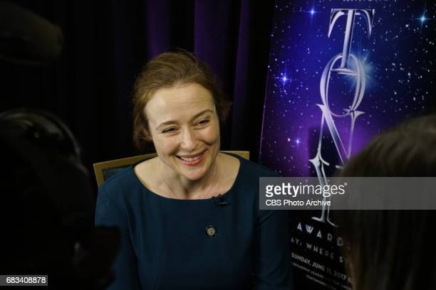 Jennifer Ehle of Oslo attends The Meet the 2017 Tony Nominees Press Junket held on Wednesday May 3 2017 at Sofitel New York Hotel in New York City...