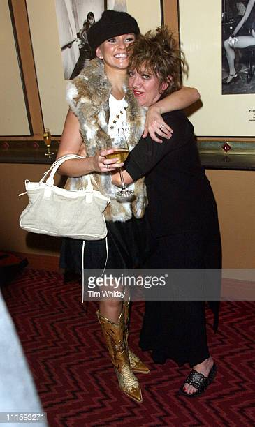 Jennifer Ellison and Amanda Barrie during Charity Performance of 'Chicago' in Aid of Breakthrough Breast Cancer After Party at Adelphi Theatre in...