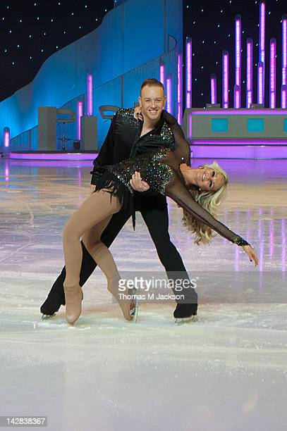 Jennifer Ellison and Dan Whiston meet the press ahead of Dancing On Ice The Live Tour at Metro Radio Arena on April 13 2012 in Newcastle upon Tyne...