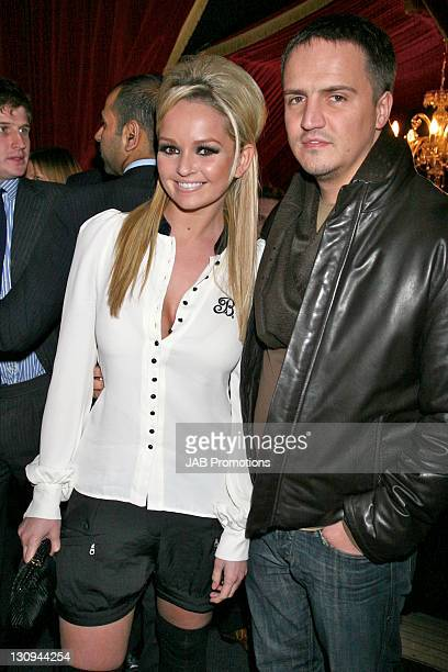 Jennifer Ellison and Guest during Rocky Balboa London Premiere After Party at Circus in London Great Britain