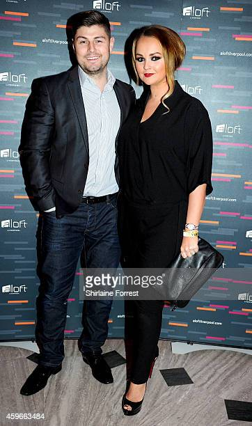 Jennifer Ellison and Rob Tickle arrive at the launch of the Aloft Liverpool hotel which has transformed the iconic Royal Insurance Building in...