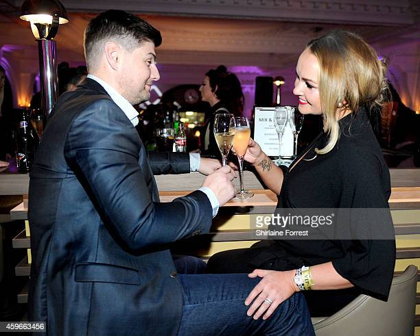 Jennifer Ellison and Rob Tickle mingle at the launch of the Aloft Liverpool hotel which has transformed the iconic Royal Insurance Building in...