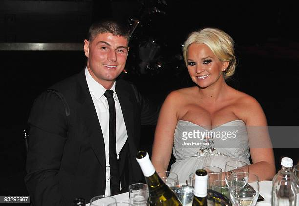 Jennifer Ellison and Robbie Tickle attend Ronan Keating's fourth annual Emeralds and Ivy Ball in aid of Cancer Research UK at Battersea Evolution on...