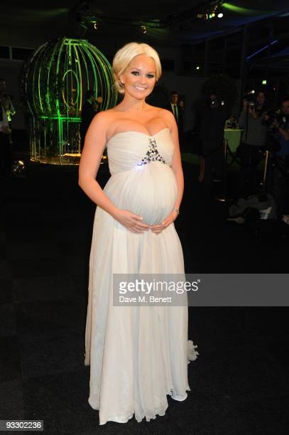 Jennifer Ellison arrives at the fourth annual Emeralds And Ivy Ball in aid of Cancer Research UK at Battersea Evolution on November 21 2009 in London...