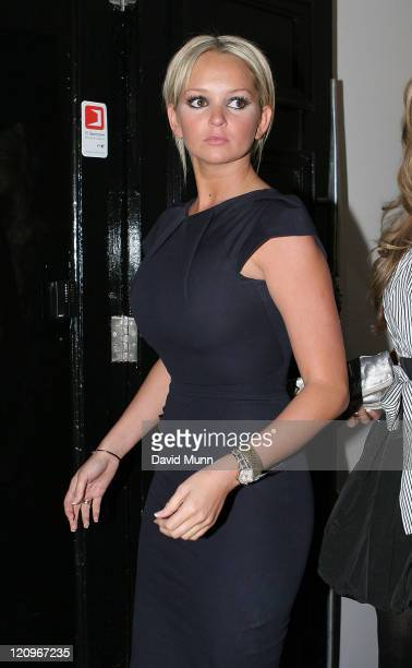 Jennifer Ellison attends The Liverpool Fashion Week Launch Party at Kingdom February 21st Liverpool England