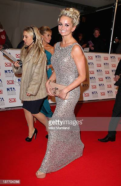 Jennifer Ellison attends the National Television Awards at the O2 Arena on January 25 2012 in London England