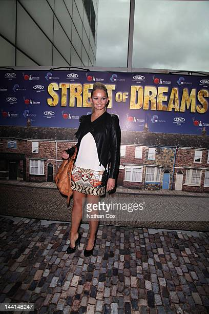 Jennifer Ellison attends the premiere of 'Coronation Street Street of Dreams' at MEN Arena on May 10 2012 in Manchester England