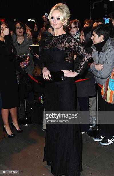 Jennifer Ellison attends the Whatsonstagecom Awards 2013 at Palace Theatre on February 17 2013 in London England