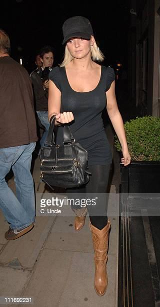 Jennifer Ellison during Jennifer Ellison Sighting Leaving Chicago July 17 2006 at Cambridge Theatre in London Great Britain