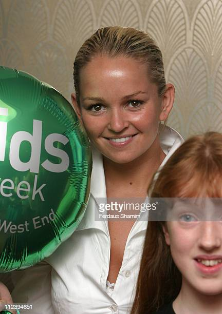 Jennifer Ellison during Kids Week In The West End Press launch July 25 2006 at Prince of Wales Theatre in London