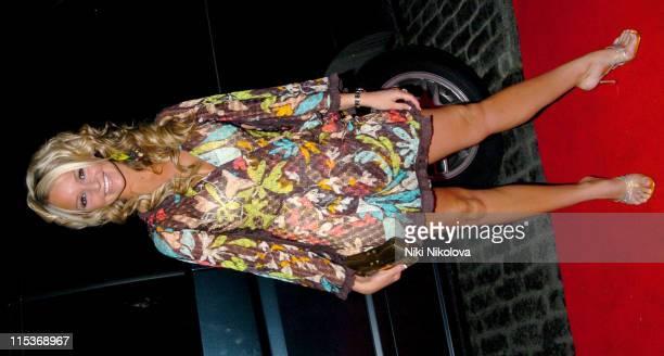 Jennifer Ellison during Make Me A Supermodel Finale Arrivals in London Great Britain