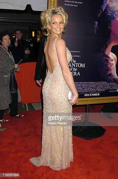 Jennifer Ellison during Premiere of The Phantom of the Opera New York at The Ziegfeld Theatre in New York City New York United States