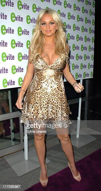 Jennifer Ellison during The Evite GLAMOUROKE Party at Embassy Club in London Great Britain