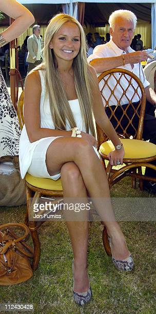 Jennifer Ellison during The Veuve Clicquot Gold Cup Polo Final July 17 2005 at Cowdray Park in West Sussex Great Britain