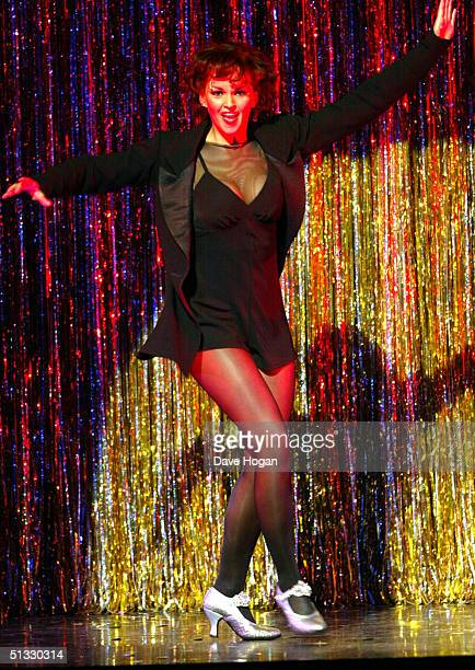 Jennifer Ellison performs in her new role as Roxie Hart in the West End musical Chicago at the Adelphi Theatre on September 20 2004 in London Ellison...