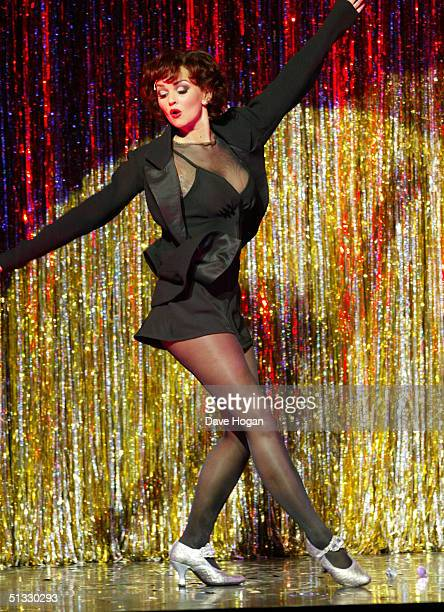 "Jennifer Ellison poses in her new role as Roxie Hart in the West End musical ""Chicago"" at the Adelphi Theatre on September 20, 2004 in London...."