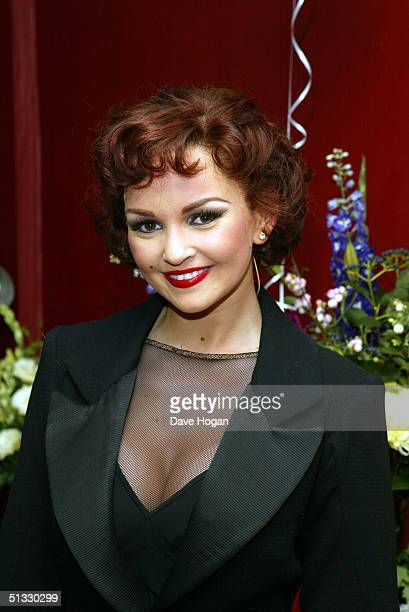 Jennifer Ellison poses in her new role as Roxie Hart in the West End musical Chicago at the Adelphi Theatre on September 20 2004 in London Ellison...