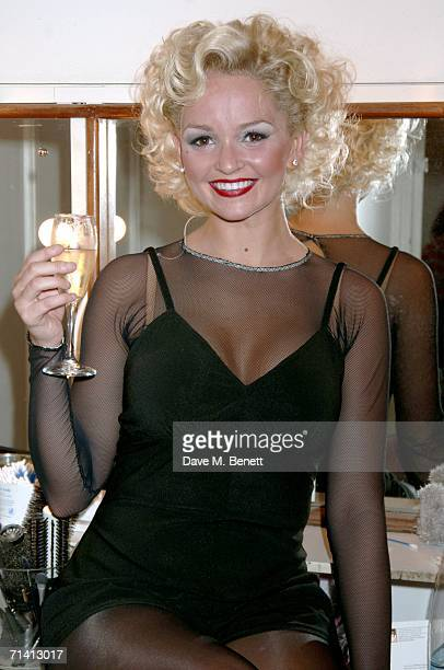 Jennifer Ellison returns to the 'Chicago' musical as 'Roxy Carter' at the Cambridge Theater on July 10 2006 in London England