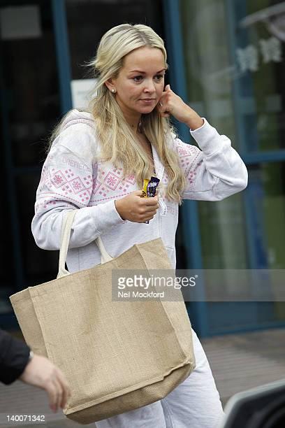 Jennifer Ellison seen leaving her hotel on February 27 2012 in London England