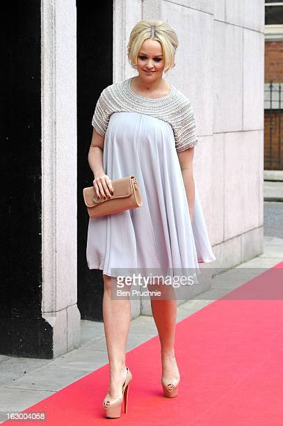 Jennifer Ellison sighted arriving at the Savoy Hotel on March 3 2013 in London England