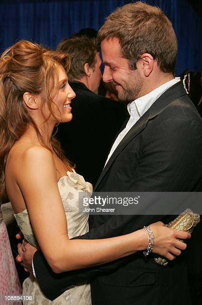 Jennifer Esposito and Bradley Cooper during InStyle Warner Bros 2006 Golden Globes After Party Inside at Beverly Hilton in Beverly Hills California...