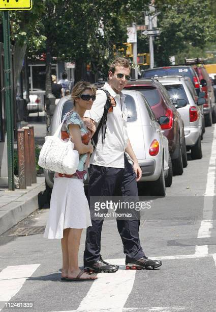 Jennifer Esposito and Bradley Cooper during Jennifer Esposito and Bradley Cooper Sighting in New York May 30 2006 at West Village in New York City...