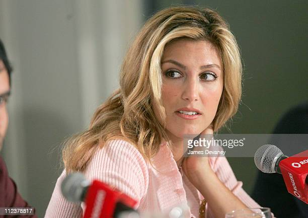 Jennifer Esposito and Don Cheadle during 2004 Toronto International Film Festival Crash Press Conference at Four Seasons in Toronto Ontario Canada