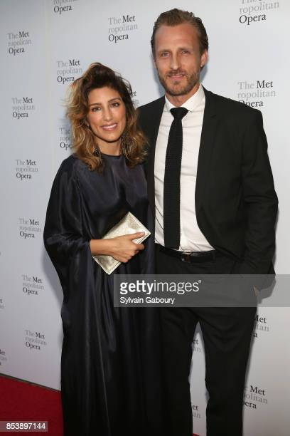 Jennifer Esposito and Jesper Vesterstrom attend Metropolitan Opera Opening Night Gala at Lincoln Center on September 25 2017 in New York City