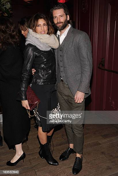 Jennifer Esposito and Louis Dowler attend the after party for The Cinema Society with Roger Dubuis and Grey Goose screening of FilmDistrict's Olympus...