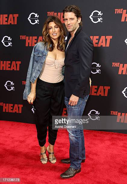 Jennifer Esposito and Louis Dowler attend The Heat New York Premiere at Ziegfeld Theatre on June 23 2013 in New York City