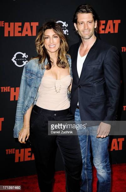 Jennifer Esposito and Louis Dowler attend The Heat New York Premiere at the Ziegfeld Theatre on June 23 2013 in New York City