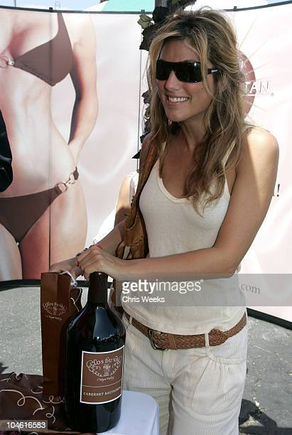 Jennifer Esposito at Clos Du Val wine during Silver Spoon Hollywood Buffet Day Two at Private Estate in Hollywood California United States