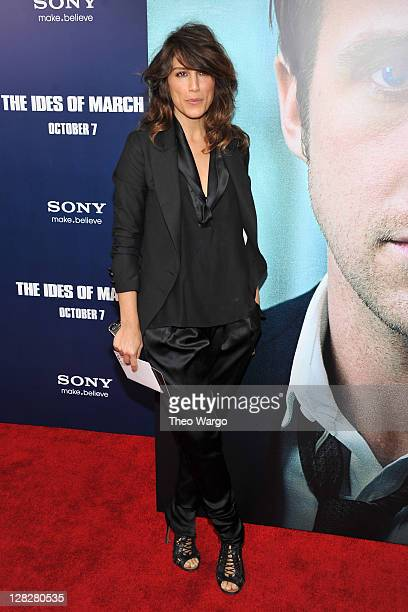 Jennifer Esposito attends the premiere of The Ides of March at the Ziegfeld Theater on October 5 2011 in New York City