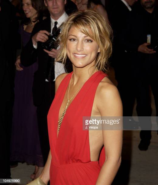 Jennifer Esposito during 2002 Vanity Fair Oscar Party Hosted by Graydon Carter Arrivals at Morton's Restaurant in Beverly Hills California United...