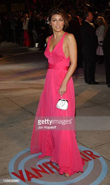 Jennifer Esposito during 2004 Vanity Fair Oscar Party at Mortons in Beverly Hills California United States