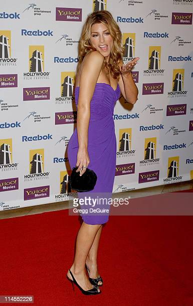 Jennifer Esposito during 9th Annual Hollywood Film Festival Awards Gala Ceremony Arrivals at Beverly Hilton Hotel in Beverly Hills California United...