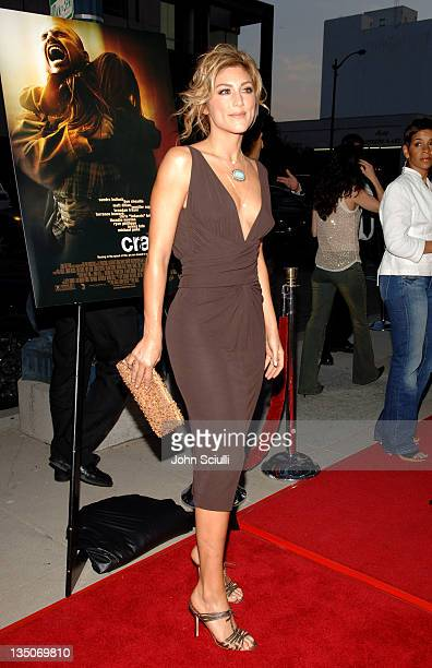 Jennifer Esposito during Crash Los Angeles Premiere Red Carpet at The Academy of Motion Picture Arts and Sciences in Los Angeles California United...